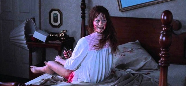 the exorcist linda blair possession william friedkin backwards 360 girl head