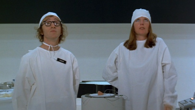 1973 sleeper woody allen diane keaton future nose