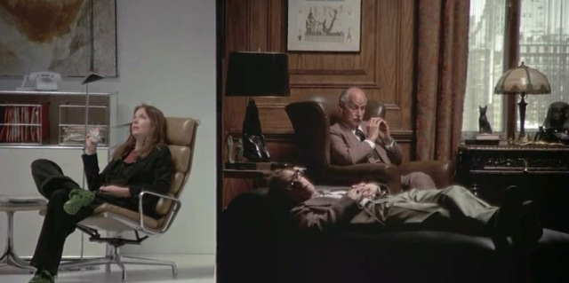 1977 annie hall woody allen diane keaton split screen psychatrist office