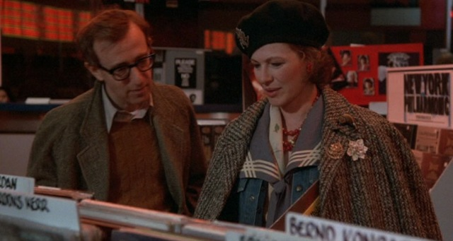 1986 hannah and her sisters woody allen dianne wiest record shop store