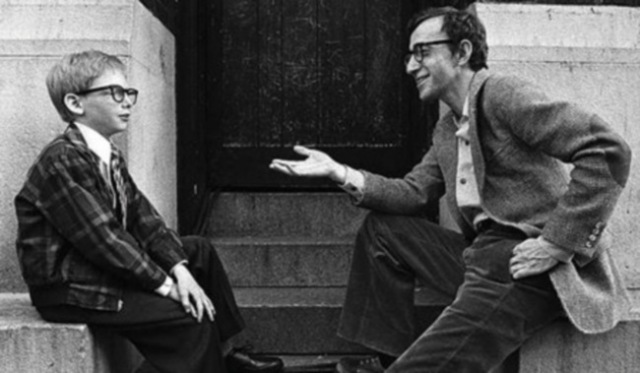 woody allen on set annie hall