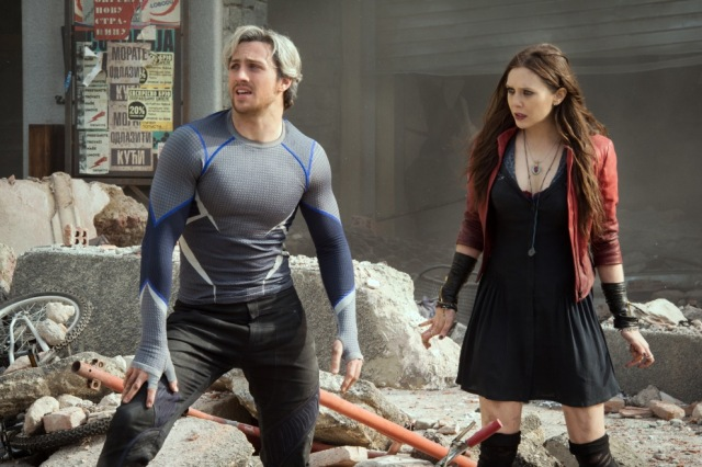avengers age of ultron scarlet widow elizabeth olsen quicksilver aaron taylor-johnson twins joss whedon