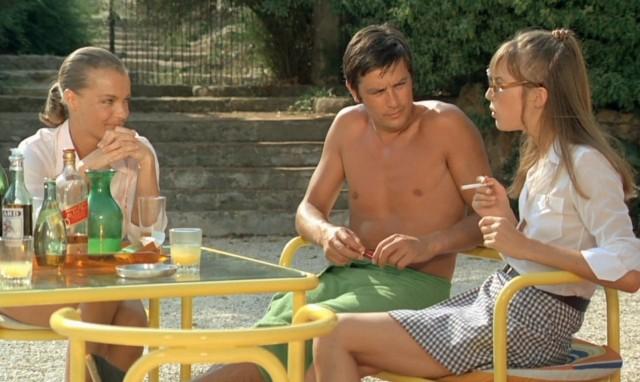 la piscine jane birkin Alain Delon, Romy Schneider jacques deray