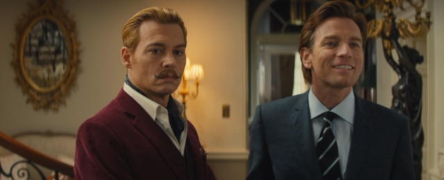 mortdecai johnny depp ewan macgregor moustache